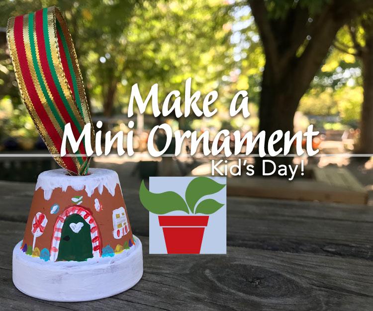 Make a Mini Ornament – Kid's Day